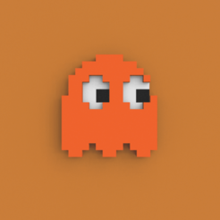 Download free STL files PacMan Ghost, Ebon