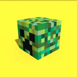 Descargar modelo 3D Cabezal Pixel Creeper, Ebon