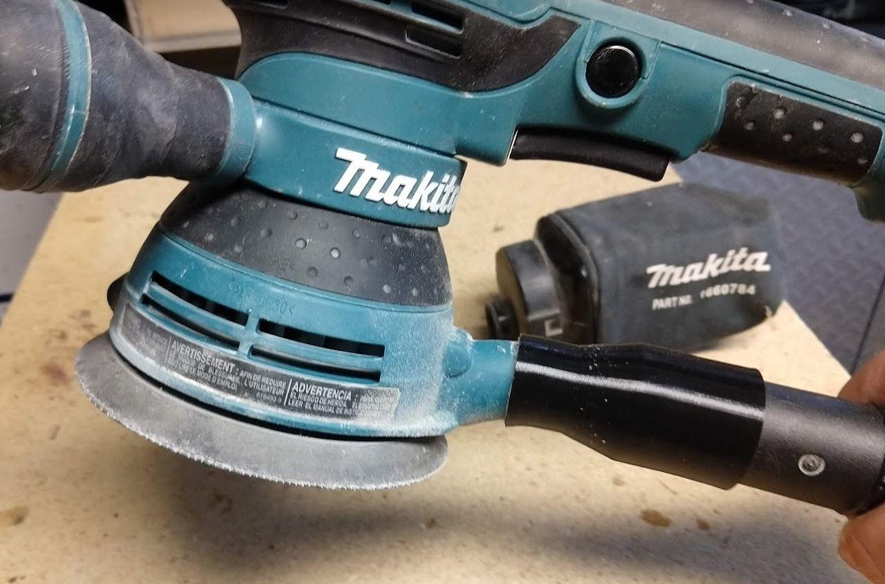 "4.JPG Download free STL file Makita BO5041 sander to 1.25"" hose adapter • 3D printing model, Makerneer"