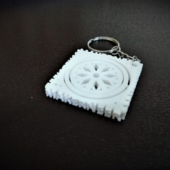 Download free STL file Winter Holiday Snowflake Gimbal Keychain, Makerneer