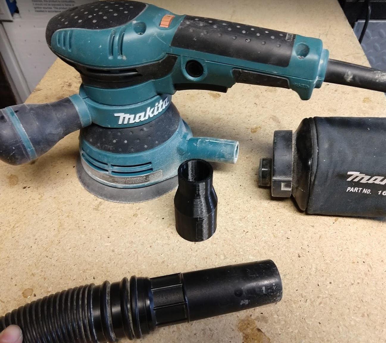 "2.JPG Download free STL file Makita BO5041 sander to 1.25"" hose adapter • 3D printing model, Makerneer"