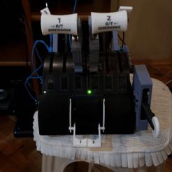 Imprimir en 3D CAJA DE CUADRANTE DE ACELERADOR SAITEK CON PALANCAS DE ARRANQUE (ACELERADORES DOBLES), Juzeq