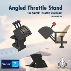 34.jpg Download STL file Angled Throttle Stand for Saitek Throttle Quadrant • 3D printer model, Juzeq