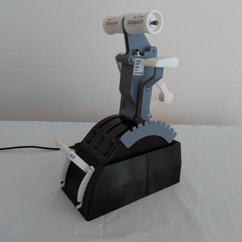 Download STL files Saitek throttle quadrant box with start levers, Juzeq