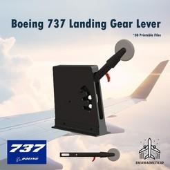 Imprimir en 3D Palanca del tren de aterrizaje del Boeing 737, Juzeq