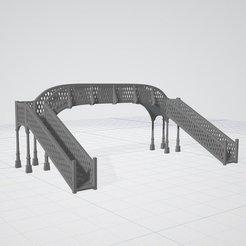3D print files Settle Railway Bridge N gauge, Engauge