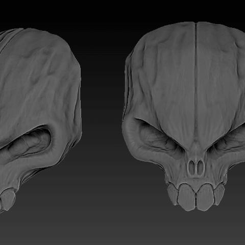 3D printing model Skull, ALX123