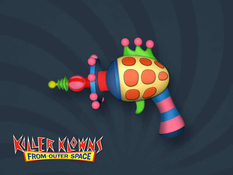 cotton-candy-cocoon-guns.png Download STL file killer klowns from outer space cotton candy gun • 3D printer object, drykill_23
