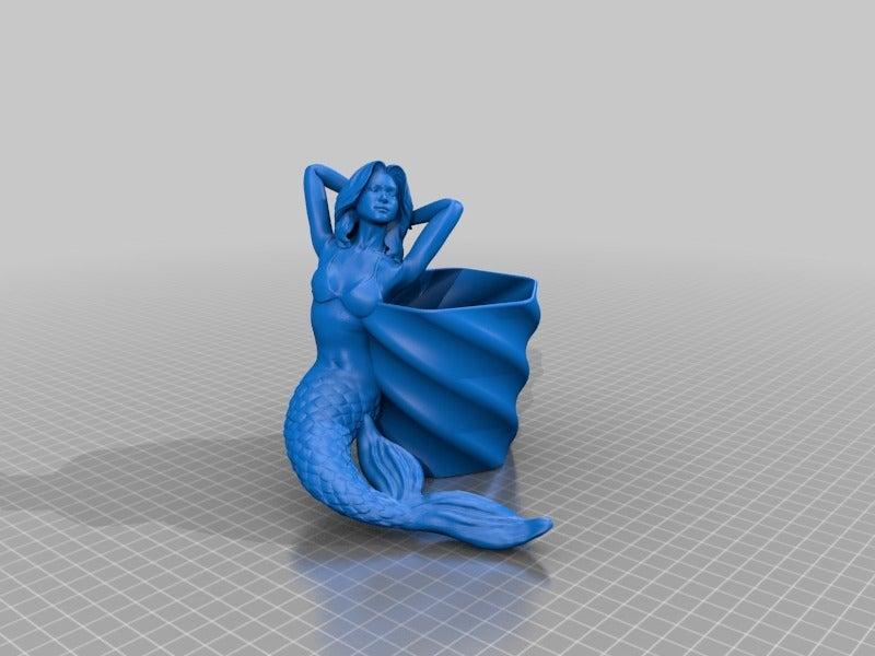 c80c481342acdb3e97017949ef2e69cd.png Download free STL file mermaid flower pot (family friendly) • 3D printer model, drykill_23
