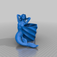 Download free STL file mermaid flower pot (family friendly) • 3D printer model, drykill_23
