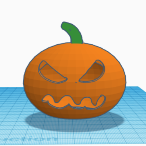 Free STL Halloween Pumpkin for Candle, corentinlbn40
