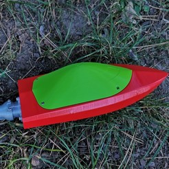 Descargar STL gratis Mini RC Jet Boat - Tapa Autoderivante, jtronics