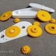 Impresiones 3D gratis Reducción de la caja de engranajes del motor 1:6,5, jtronics