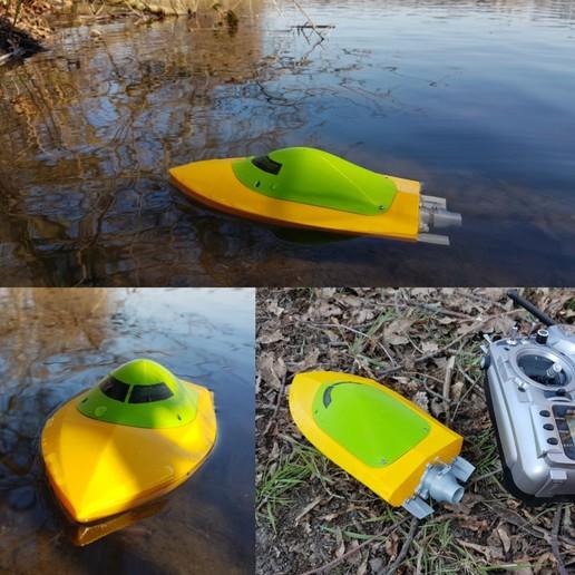 Descargar diseños 3D Mini RC Jet Boat 200, jtronics