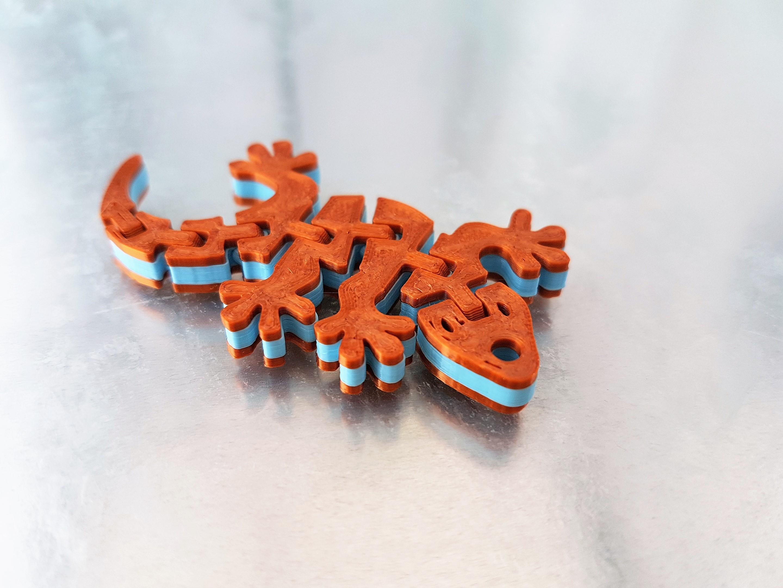20190530_122216.jpg Télécharger fichier STL gratuit Porte-clés articulé Flexi - Gecko Dual Color • Plan pour impression 3D, jtronics