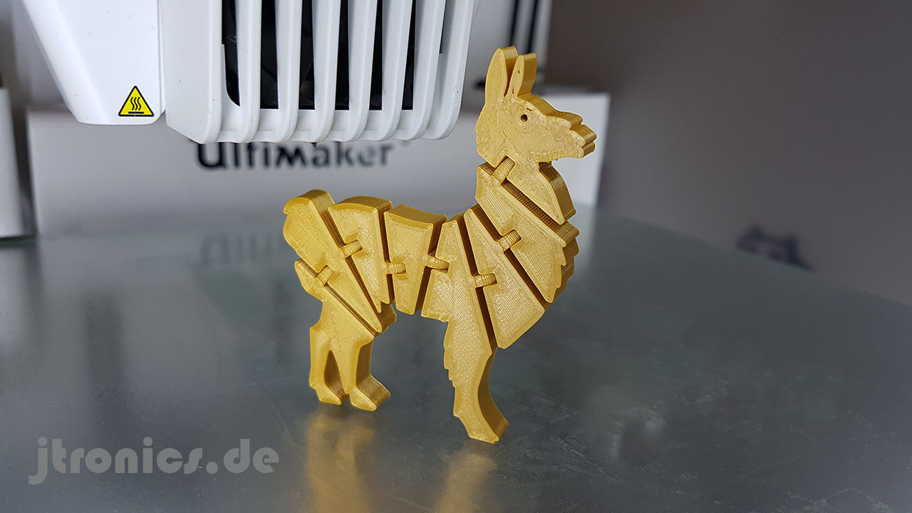 20190525_231946.jpg Download free STL file Flexi Articulated Lama • 3D print design, jtronics