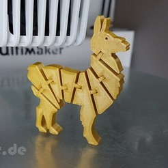 Download free 3D printing designs Flexi Articulated Lama, jtronics