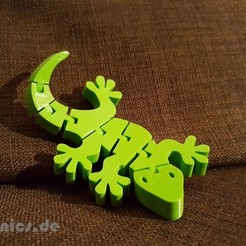 Free STL files Flexi Articulated Gecko, jtronics