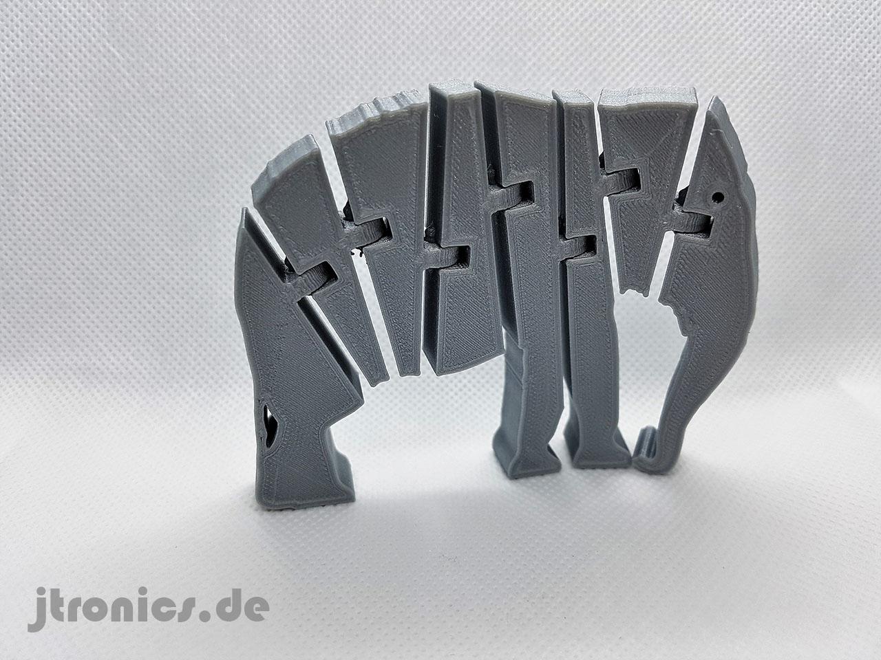 20190524_213926.jpg Download free STL file Flexi Articulated Elephant • 3D printable model, jtronics