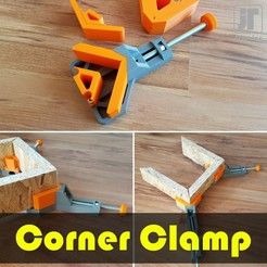 jtronics_corner_clamp.jpg Download free STL file Corner Clamp • 3D printing model, jtronics