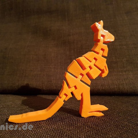20190514_232850.jpg Download free STL file Flexi Articulated Kangaroo • Model to 3D print, jtronics