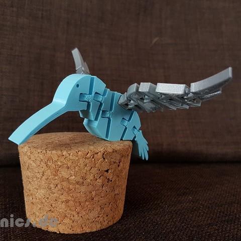 Free 3D model  Flexi Articulated Hummingbird , jtronics