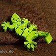 Fichier imprimante 3D gratuit Gecko articulé Flexi, jtronics