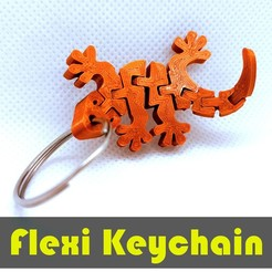 jtronics_flexi_gecko.jpg Download free STL file Flexi Articulated Keychain - Gecko • 3D printer object, jtronics