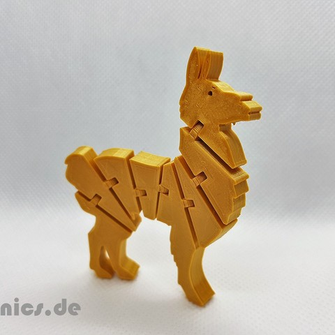 20190524_211712.jpg Download free STL file Flexi Articulated Lama • 3D print design, jtronics