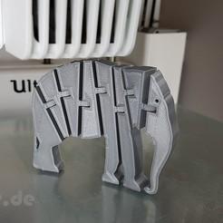 Télécharger fichier impression 3D gratuit Éléphant articulé Flexi, jtronics