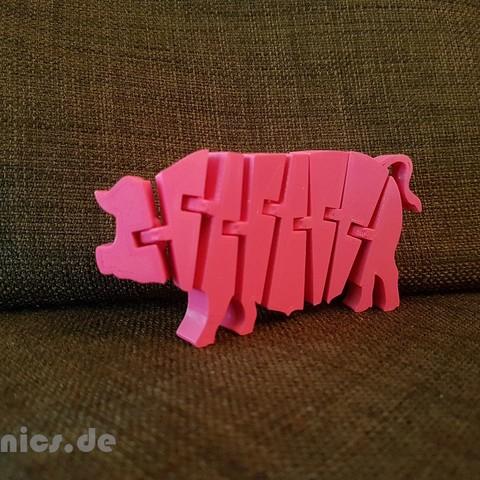 20190510_202311.jpg Télécharger fichier STL gratuit Cochon articulé Flexi • Modèle imprimable en 3D, jtronics