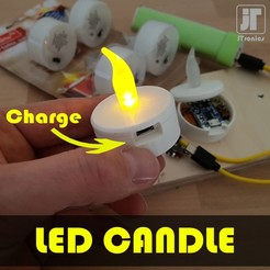 jtronics_ledcandle.jpg Download free STL file USB rechargeable LED Candle, Tea Light • 3D printing object, jtronics