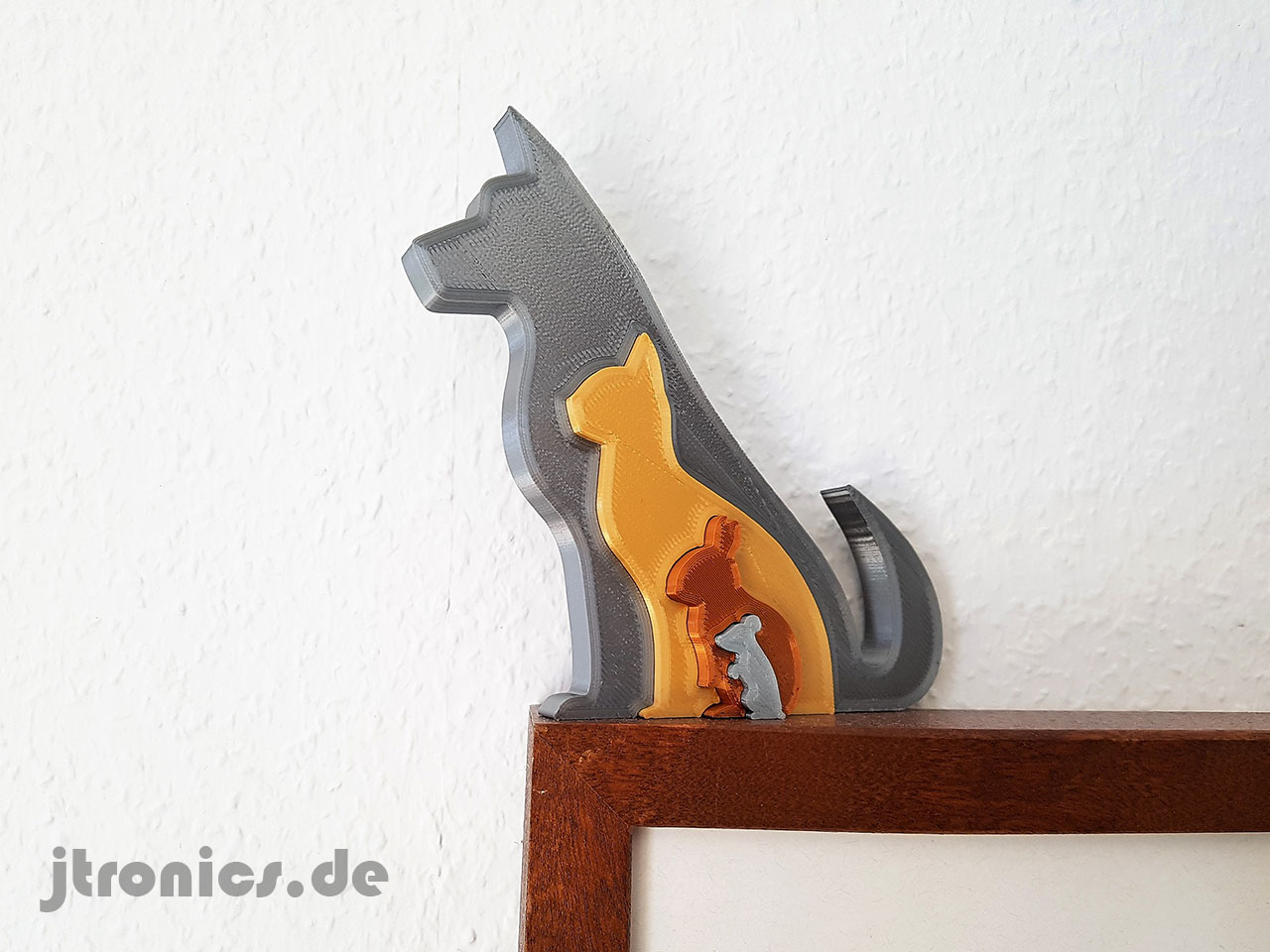 20190618_123028.jpg Download free STL file Animal Silhouette - Dog Cat Rabbit Mouse • 3D printing template, jtronics