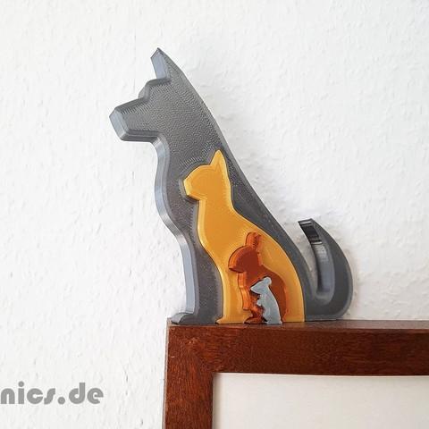 Free 3D printer files Animal Silhouette - Dog Cat Rabbit Mouse, jtronics