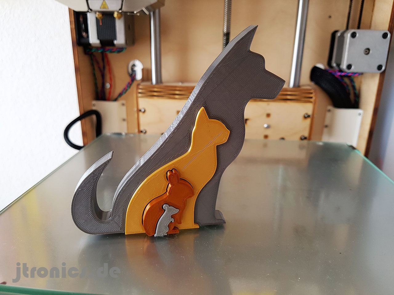 20190618_123241.jpg Download free STL file Animal Silhouette - Dog Cat Rabbit Mouse • 3D printing template, jtronics