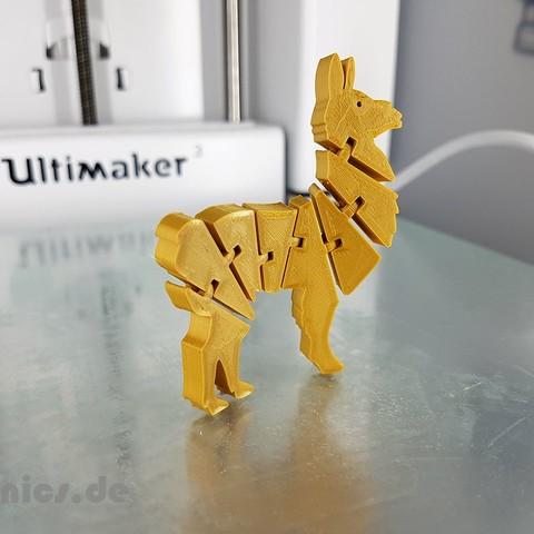 20190524_211034.jpg Télécharger fichier STL gratuit Lama articulé Flexi • Modèle à imprimer en 3D, jtronics