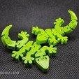Download free 3D print files Flexi Articulated Mini Gecko, jtronics