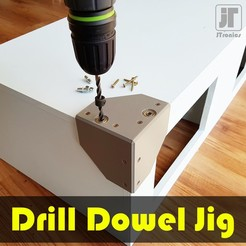 jtronics_drilldoweljig_00.jpg Download free STL file Drill Dowel Jig • 3D printer object, jtronics