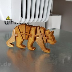 Download free 3D printing files Flexi Articulated Bear, jtronics