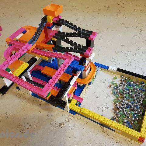 Diseños 3D Lego Marble Run Building Block Brick - Set STARTER, jtronics