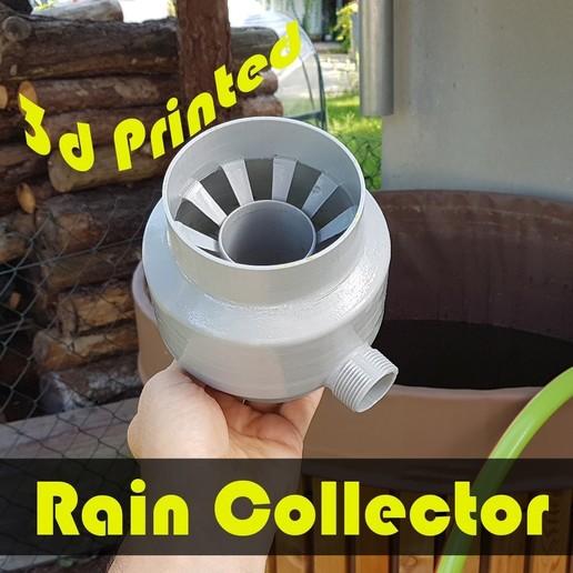 jtronics_raincollector_klein.jpg Download free STL file Rain Collector • 3D printer model, jtronics