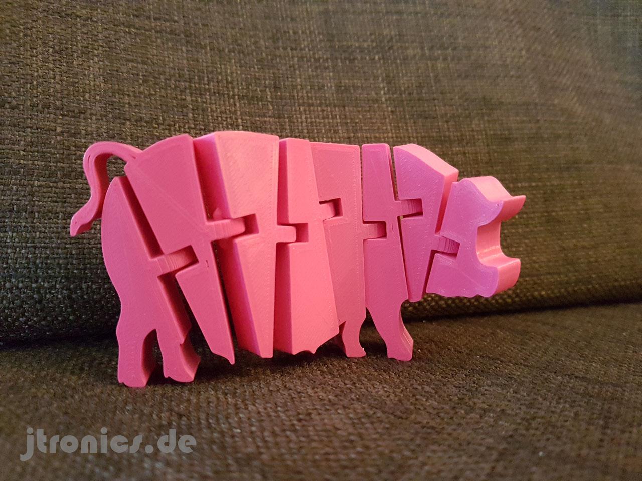 20190510_202344.jpg Télécharger fichier STL gratuit Cochon articulé Flexi • Modèle imprimable en 3D, jtronics