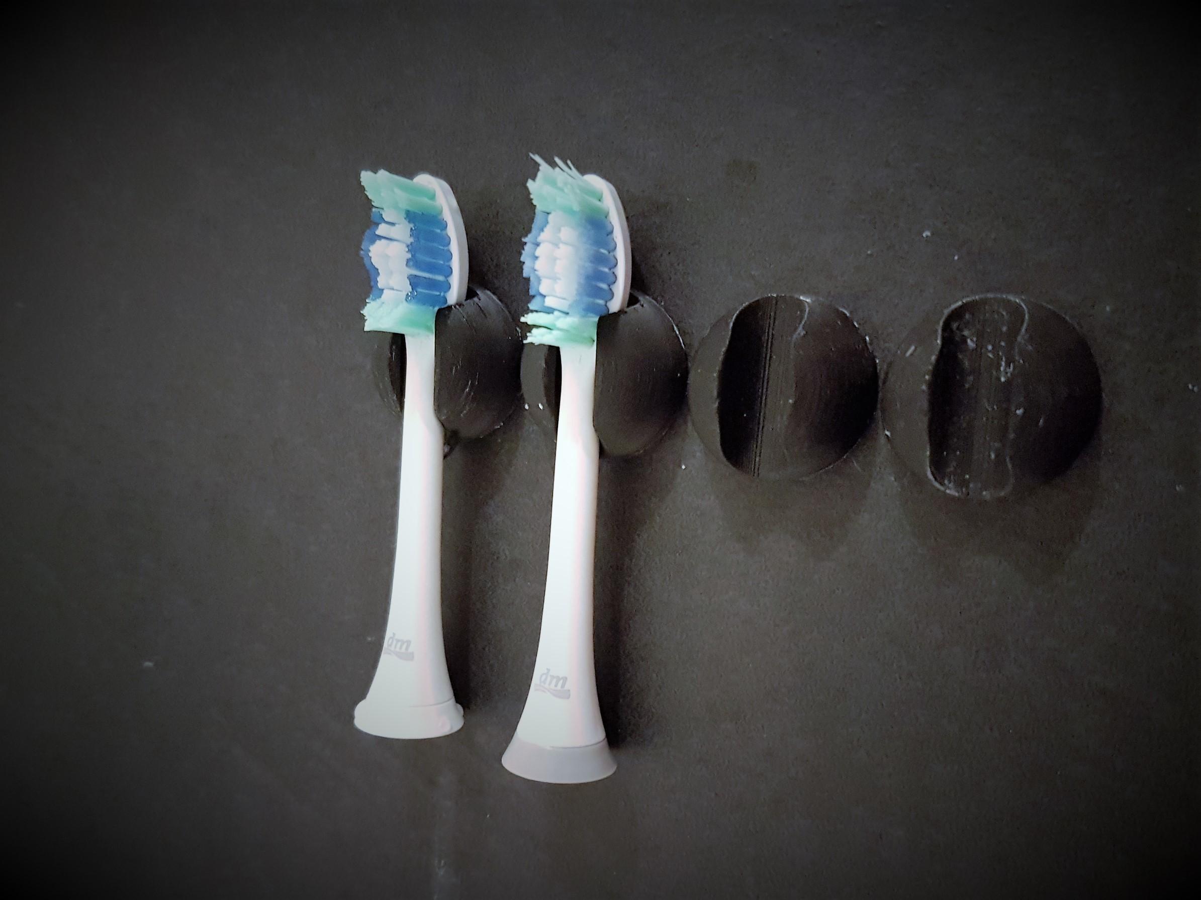 jtronics_sonicare_brush_mount.jpg Download free STL file Sonicare toothbrush head mount holder  • Design to 3D print, jtronics