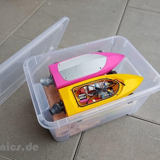 Descargar archivos STL gratis Mini RC Jet Boat - Ikea Transport Box, jtronics