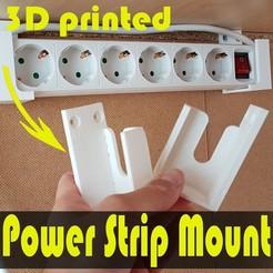 jtronics_powerstripmount_y (2).jpg Download free STL file Universal Power Strip Mount • 3D print object, jtronics