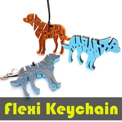 jtronics_flexi_dog.jpg Download free STL file Flexi Articulated Keychain - Greater Swiss Mountain Dog • Object to 3D print, jtronics