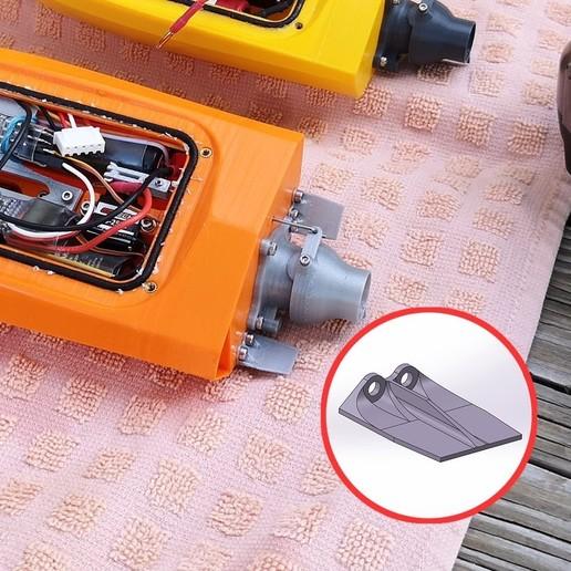 Download free 3D printer model Mini RC Jet Boat - Trim Tabs, jtronics