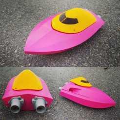 1.jpg Télécharger fichier STL Mini RC Twin Jet Boat 200 • Objet à imprimer en 3D, jtronics
