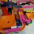 STL file Lego Marble Run Building Block Brick - 02x02 Track, jtronics