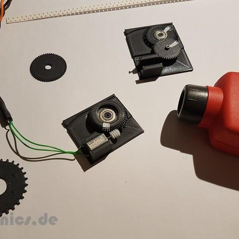 Modèle 3D gratuit Test d'engrenage à vis sans fin d'alimentation OpenPnp SMT imprimé 3D, jtronics
